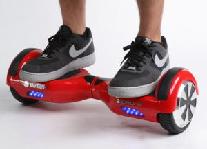 picture of a hoverboard being used.